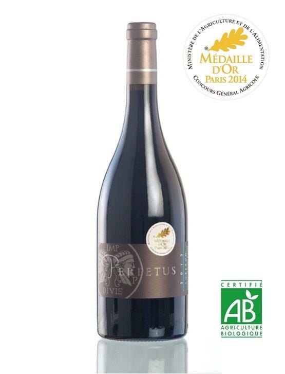 Vin rouge AOP Luberon 2014 Médaille d'or Bouteille 75cl - Domaine Les Perpetus