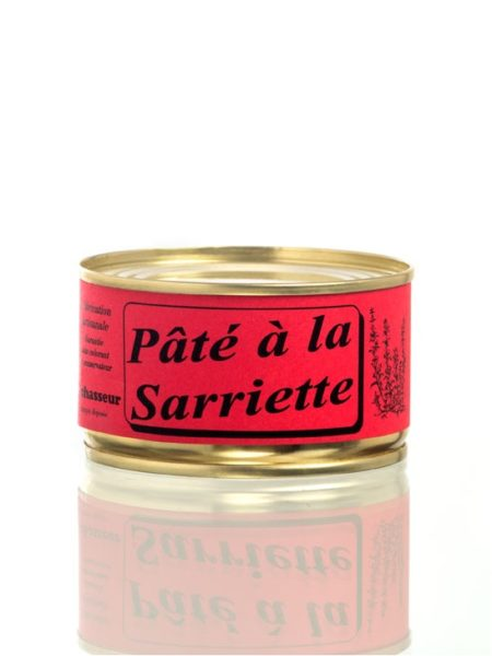 Pâté artisanal à  la sariette - Conserve 130g