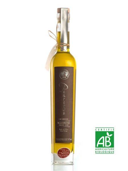 Huile d'olive biologique Aglandau 2020 - Bouteille 37,5cl