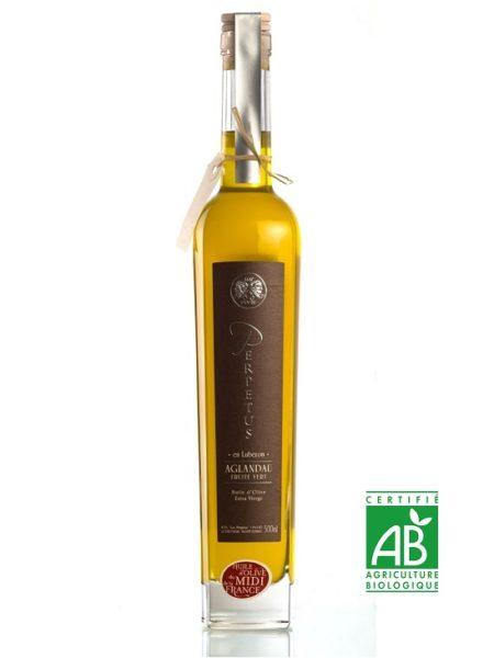Huile d'olive biologique Aglandau 2020 - Bouteille 50cl