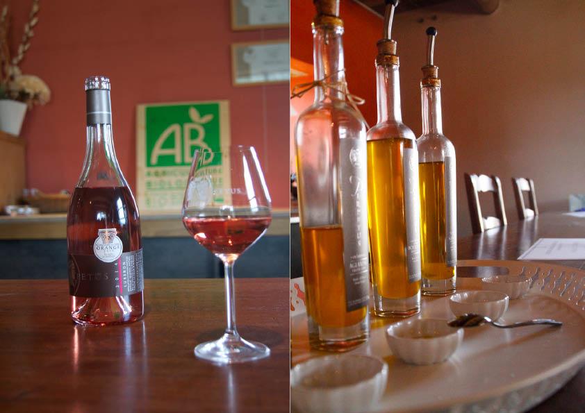 Huile d'olive et Rosé AOP Luberon 2014